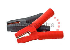 Heavy Duty Alligator clamps pair red black fully insulated booster cable jumper