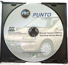 DVD MANUALE OFFICINA FIAT PUNTO II SERIE 1.2 8V-16V-1.8 16V-1.9 DS-JTD ZFA188