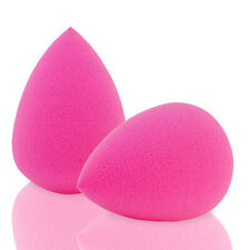 2 PINK Droplet Latex Free Blender Sponges Liquid Makeup Beauty Liquid Foundation