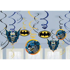 Batman Swirl Party Decorations 12ct