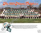 1985 MIAMI DOLPHINS FOOTBALL 8X10 TEAM PHOTO