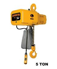 HARRINGTON NER ELECTRIC CHAIN HOIST, 5 TON CAPACITY