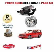 FOR VOLVO 850 1993-1997 2.0 2.3 2.5 NEW FRONT BRAKE DISCS SET + DISC PADS KIT