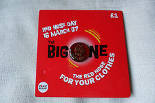 Comic Relief charity red nose day the big one RND 07 pin lapel badge,free u.k.p&