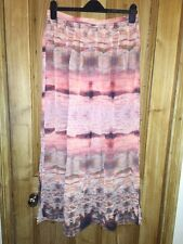 "Top Shop Orange Multi Side Split Skirt Part Lined Size 12 W30"" L38"" *JA1"