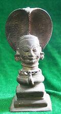 VINTAGE TRADITIONAL INDIAN CAST BRASS RITUAL SHIVA HEAD STATUE RARE COLLECTION