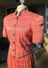 Double D Ranch Wear DD Texas Top + Broomstick Skirt S  Southwest Concho Buttons