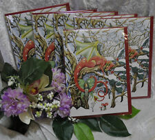 Set of Six Dragon fantasy Christmas cards solstice