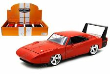 JADA 1:24 DISPLAY - BIG TIME MUSCLE - 1969 DODGE CHARGER DAYTONA Diecast Car Red