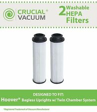 2 Hoover HEPA Washable Bagless Upright Vacuum Filter 40140201 43611042 42611049