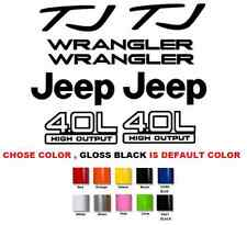 (#393) Jeep Wrangler Sport 4.0 high output STICKERS DECALS KIT YJ TJ