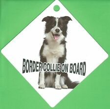"On Board Dog Car Sign ""Border Collie on Board"" Suction Cap provided"