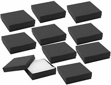 LOT OF 12 MATTE BLACK COTTON FILLED BOX JEWELRY GIFT BOXES BRACELET BANGLE BOX