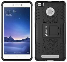AMZER Rugged Dual Layer Hybrid Warrior Case Stand Xiaomi Redmi 3S Prime - Black