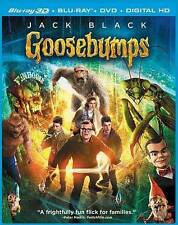 Goosebumps (3D Blu-ray + Blu-ray + DVD + DIGITAL HD) NEW SEALED  SLIPCOVER