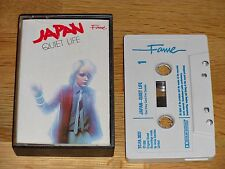 JAPAN Quiet Life - UK 1984 Fame Reissue - Blue Text - EMI TC-FA 3037 - 8 Tracks