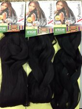 4 packs X-pression Xpression Expression 100% Kanekalon Senegalese Braid Hair 1B#