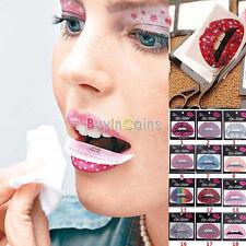 3X Temporary Lip Tattoo Sticker Art Transfers Lady Party Fancy Dress Up US