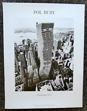 POL BURY MANHATTAN 1965 POSTER PRINT NOUVELLES IMAGES NEW YORK NYC ARCHITECTURE