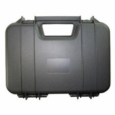 "Black HARD PLASTIC PISTOL GUN CASE Carry Box Holder Airsoft Guns Case 12"" Long"