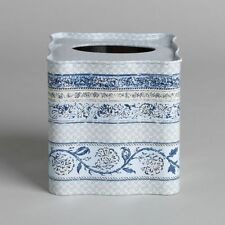 Country Living Monticello Periwinkle Blue Bathroom Tissue Box Cover