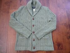 NWT  POLO RALPH LAUREN 100% WOOL CARDIGAN SWEATER SZ M