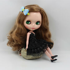 """12"""" Neo Blythe Doll Curly Hair Factory Nude Doll from Factory XZ082"""