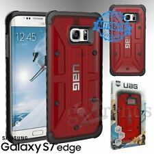 UAG Urban Armor Gear MAGMA Red Clear Hybrid Case Cover Samsung Galaxy S7 Edge