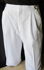 Mens White 33-35 Regular Adjustable Waist Tuxedo Pants Wedding Prom Discount