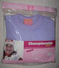 New 2-Piece Light Purple Size 2T Girls Thermal Underwear Set Long Johns