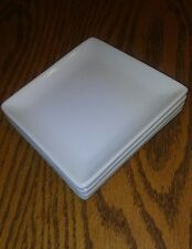 "Front of the House, Kyoto Porcelain White Square  Plate 5"" Small Dish Set of 4"