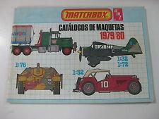 VINTAGE CATALOGO MATCHBOX 1979-80-CATALOGO DE MAQUETAS-IDIOMA ESPAÑOL