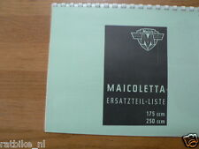 M0104 MAICO---ERSATZTEILLISTE---MAICOLETTA 175CC + 250CC SCOOTER-MODEL
