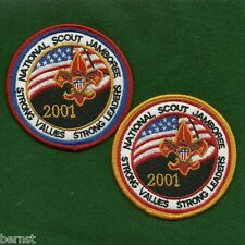 BOY SCOUT - 2001 JAMBOREE YOUTH & ADULT PATCHES - FREE SHIPPING    XX