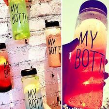 Plastic Transparent My Bottle Fruit Juice 550ml Water Cup Canvas Sport Hot