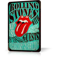 Metal Tin Sign ROLLING STONES Poster Concert Altamont Speedway Decor Rock
