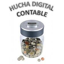 HUCHA DIGITAL CONTABLE EN EUROS pantalla LCD Suma las monedas que vas metiendo