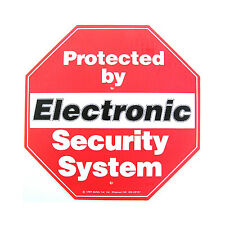 Safety 1st Alarm Security Sign For Yard With Mounting Poles No.7417