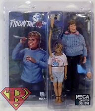 "PAM VOORHEES & CHILD JASON Friday the 13th 7"" Figure SDCC Comic Con Neca 2015"