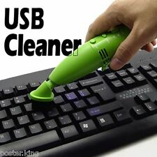 USB Mini Wireless Vacuum Dust Cleaner for Laptop Keyboard Office Desk Camera PC