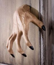 SCARY SPOOKY CREEPY CLAWING HAND WALL HANGER HALLOWEEN INDOOR OUTDOOR DECOR.