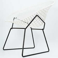 Harry Bertoia Diamond Chair Two Tone Black White Modell 421 Knoll International