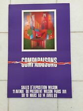 Vintage French Art Advertising Poster 1969 Leopold Survage Comparisons Finland