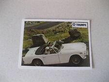 TRIUMPH TR4A POSTCARD OF AN ORIGINAL ADVERT FROM 1966
