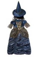 Witch Outfit Age 3-4 Dressing Up Fancy Dress Halloween Rrp £14 F&f Tesco New