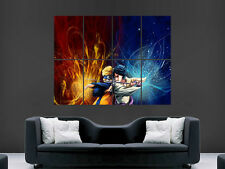NARUTO SASUKE  FIGHTING MANGA   IMAGE ART LARGE WALL  POSTER  PRINT