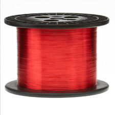 "28 AWG Gauge Enameled Copper Magnet Wire 5.0 lbs 10135' Length 0.0135"" 155C Red"