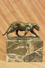 Unique Art Deco Panther Walking Bronze Sculpture Cubism Statue Rembrandt Bugatti