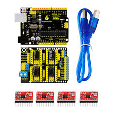 New! 3D printer Kit for Arduino CNC Shield V3+UNO R3+A4988*4 GRBL Compatible
