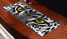 Tappettino Bar Leopardo Bianco e Nero Occhi Perfetto per Ogni Occasione Pub Club
